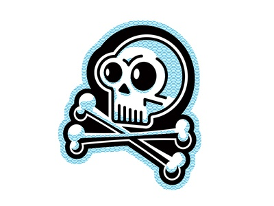 Skull and Bones jolly roger skeleton rudahbee brad ruder