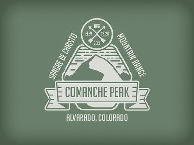 Comanche Peak Badge mountain comanche peak arrow rudahbee