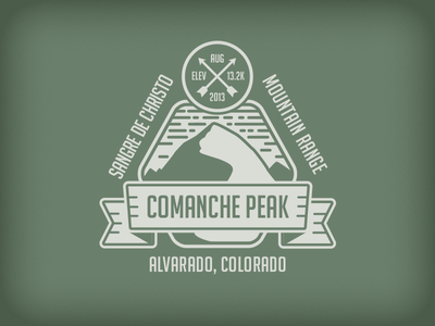 Comanche Peak Badge mountain comanche peak arrow rudahbee