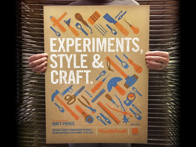 Wood & Faulk AIGA Poster brad ruder rudahbee tools wichita wood  faulk
