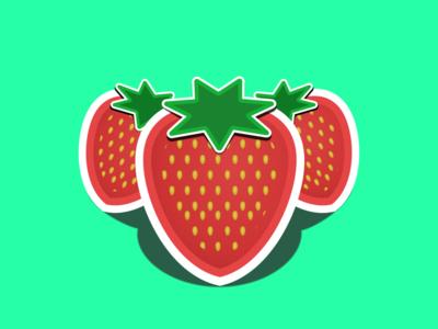 Strawberry Summer Jam Sticker
