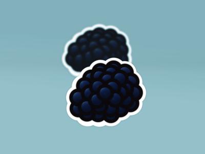 Fruit Stickers! BlackBerry