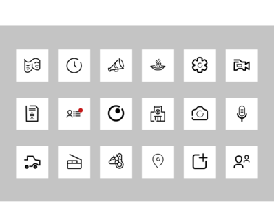 Icon Set for a Film Production App