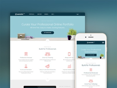 Create Free Online Portfolio Website designers designer professional online portfolio free online website theme template portfolios portfolio