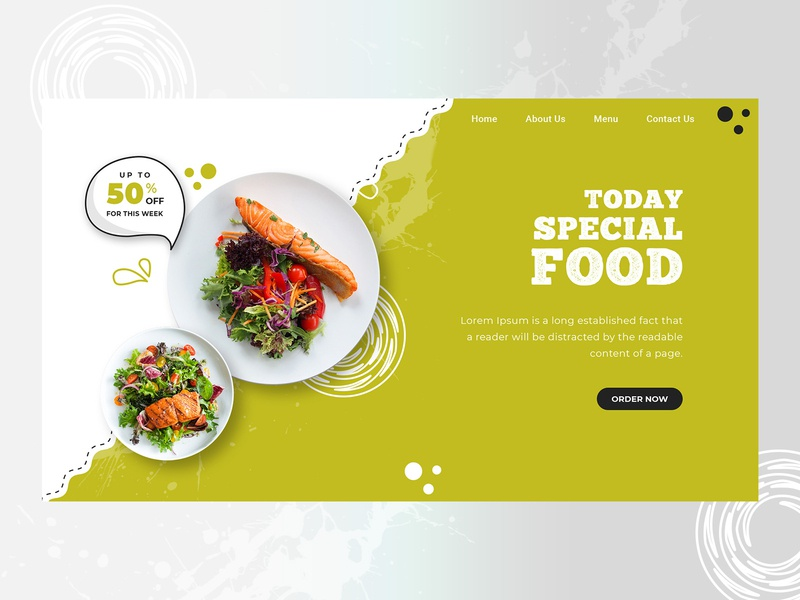 Special Food website hero banner design illustration hero section hero banner hero image restaurant uiuxdesign ux webdesign ui homepage graphics design creative banner food and drink food
