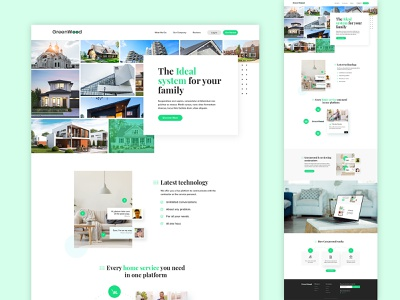 Professional website design for Home service system webdesign photoshop colorgraphy cleanui minimalist iconography typogaphy hero banner graphic ux ui website plumber electrician contractors cleaning technology system homepage design home