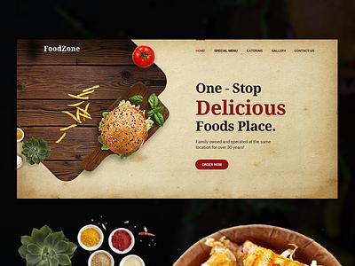 Foodzone Website Banner hotel food art banner website restaurant food