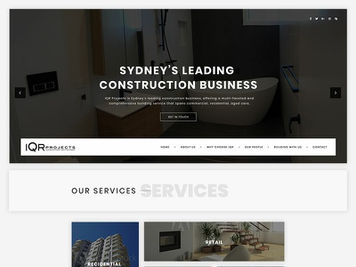 Real Estate Homepage design construction home homepage real estate