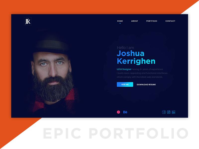 Epic Portfolio graphic graphic design webdesign uxdesign uidesign uiux banner web personal portfolio epic