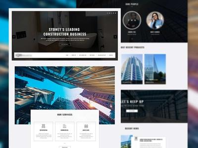 Real estate Homepage design
