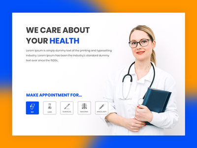 Doctor Homepage design healthcare appointment landingpage creative websitedesign homepage hospital doctor
