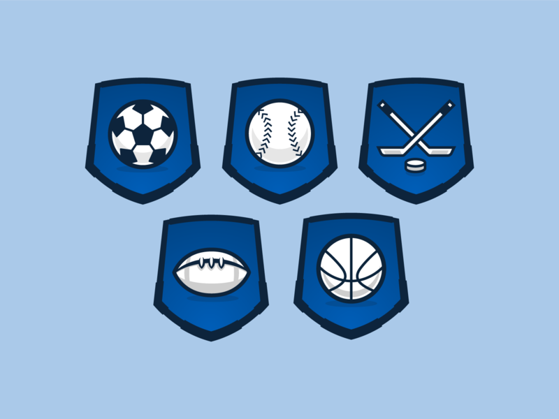 Sports Icons badges icons sports design sports logo baseball basketball football soccer hockey sports