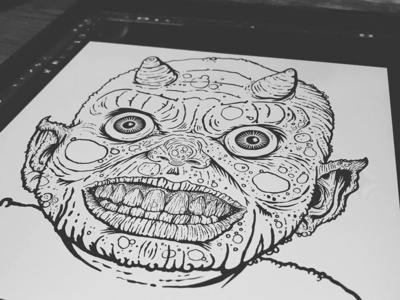 WIP - DEVIL BABY monster mania crazy eyes horns digital art monster evil devil