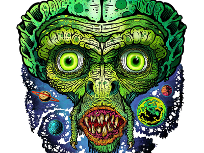 ALIEN planets monster mania monster spaceman little green man extraterrestrial martian alien