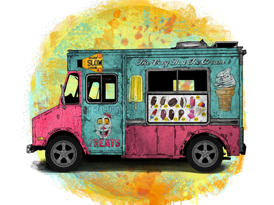 ICE CREAM TRUCK snow cone bomb pop soft serve ice cream cone ice cream truck fudgesicle clown popsicle ice cream