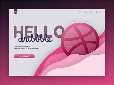Hello Dribbble 👋 ux design ui design debut web interface colors ux ui first design first shot dribbble hello