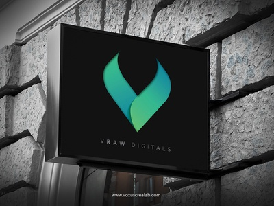 Vraw Digitals Logo Template photoshop illustrator adobe dynamic creative design modern template brand voxuscrealab voxus logo