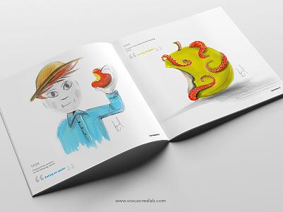 Eating an Apple design create adobe photoshop adobe line adobe sketch illustration creative