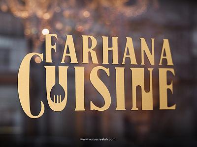 Farhana Cuisine Logo Design authentic design logo cuisine