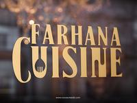 Farhana Cuisine Logo Design