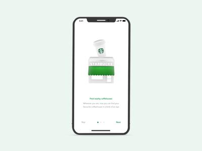 Starbucks — Experiment no. 2 🔬 illustration ui animation interaction mobile blender 3d ios app