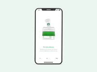 Starbucks — Experiment no. 2 🔬 illustration ui animation interaction mobile blender 3d ios app