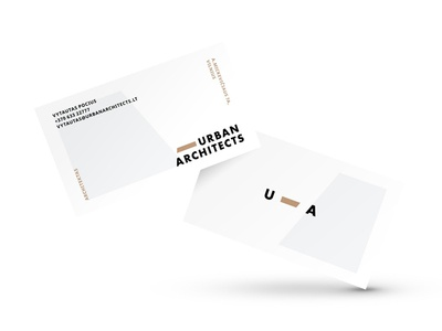 Urban Architects Business Card allcaps urban brown grey graphicdesign design vector solid clean symbol architecture minimalistic logotype typography construction identity branding logo modern