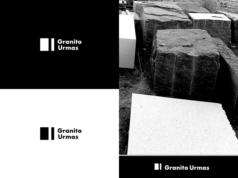 Granito Urmas Logotype heavymachinery stone plates blocks massproduction icon typography solid minimalistic graphicdesign design identity construction vector logo logotype branding modern symbol granite