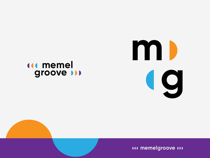 memelgroove duo lithuania dj music techno house fresh blue typography solid logotype graphicdesign construction identity design branding logo vector symbol modern