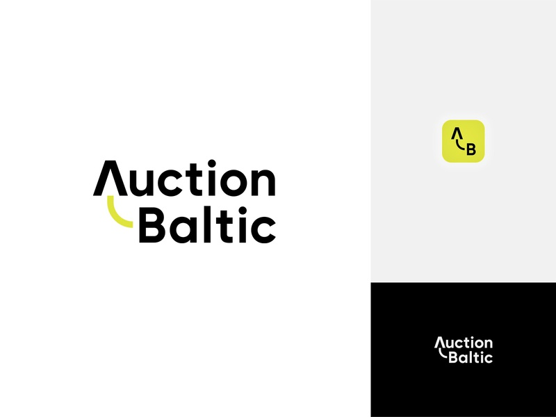 Auction Baltic Wordmark technology used wordmark digital product trucks website heavymachinery machinery auction logotype graphicdesign minimalistic identity design branding vector logo symbol modern