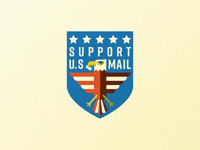 US Mail Eagle 01 branding postal service mail usps eagle crest badge illustration