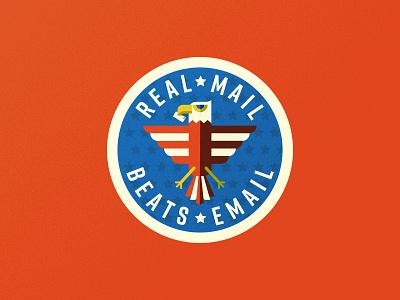 US Mail Eagle 02 postal service usps eagle branding crest badge illustration