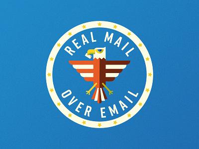 US Mail Eagle 03 mail branding postal service usps eagle crest badge illustration