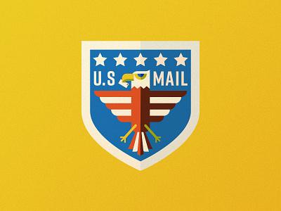 US Mail Eagle 04 postal service usps eagle logo branding crest badge illustration