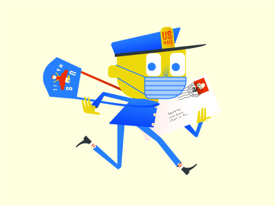 Mr. Zip aka Save the Post Office postal service usps illustration