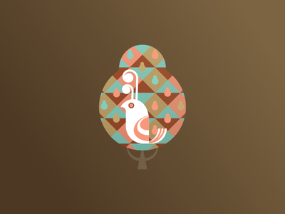 A Partridge In A Pear Tree festive 12daysofchristmas holiday christmas vector illustration