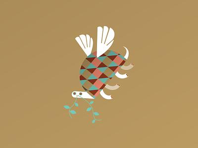 Turtle Dove festive 12daysofchristmas holiday christmas vector illustration