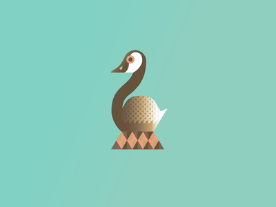 Geese Laying goose 12 days of christmas festive holiday christmas vector illustration