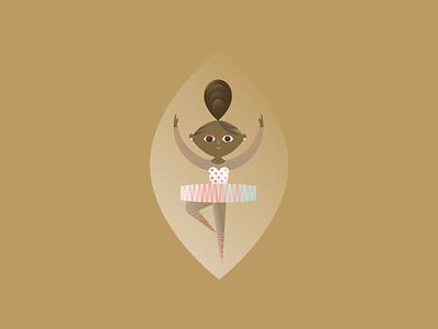 Lady Dancing girl dancer ballerina 12 days of christmas festive holiday christmas vector illustration