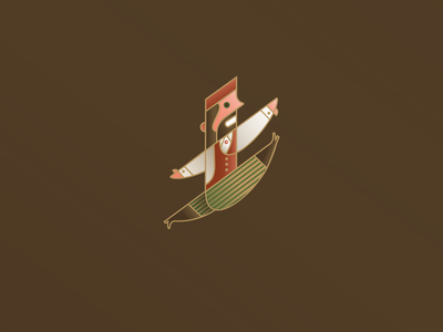 Lord Leaping outline lord 12 days of christmas festive holiday christmas vector illustration