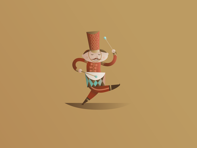 Drummer Drumming marching band drummer 12 days of christmas festive holiday christmas vector illustration