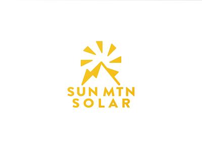 Sun Mountain Solar Logo vector branding logo