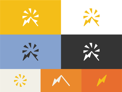 Sun Mountain Solar colors design palette colors logo