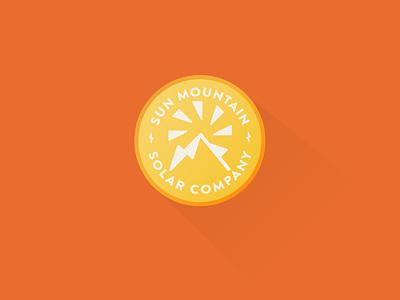Sun Mountain Solar Badge logo branding badge vector illustration