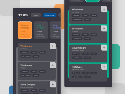 Project Manager   Dark UI   WIP