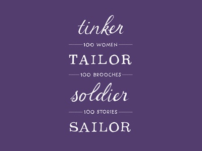 Tinker Tailor Soldier Sailor Identity typography logo design