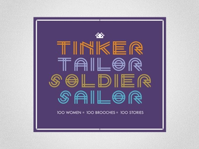 Tinker Tailor Soldier Sailor Identity (alternate) typography logo design