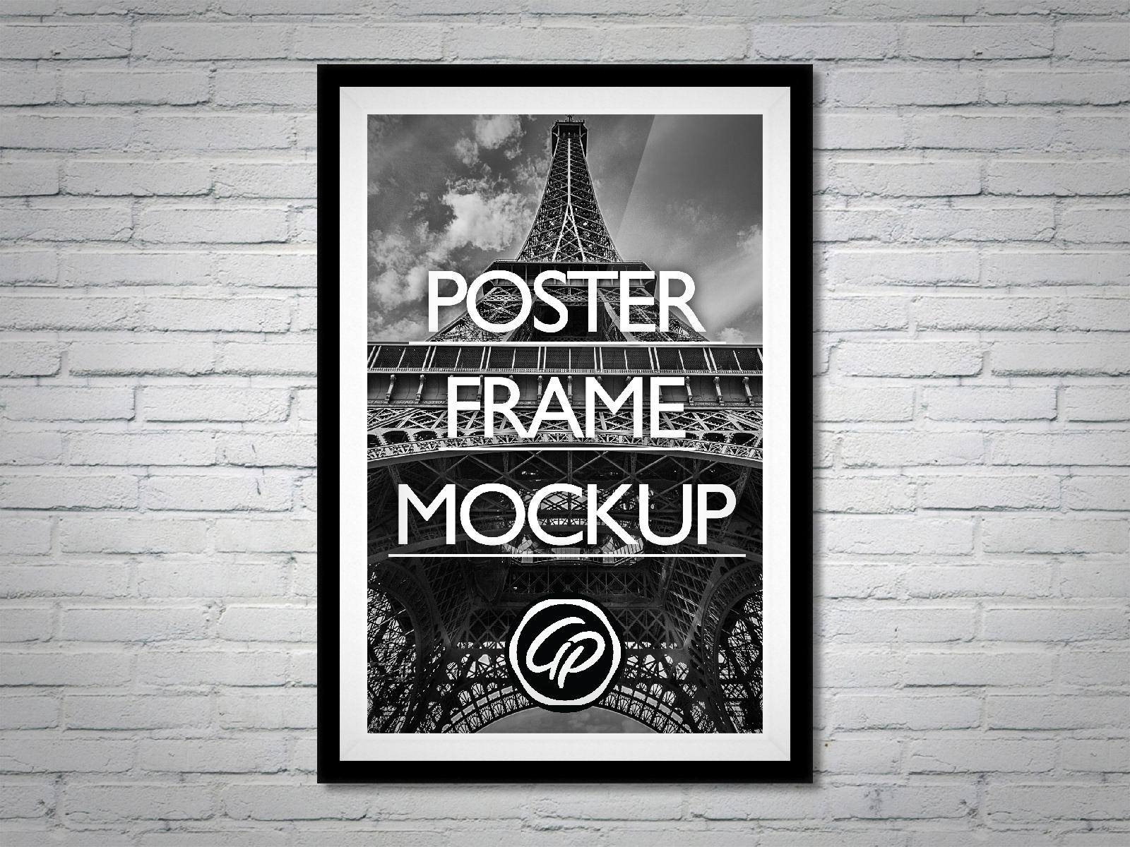 Poster frame mockup hd