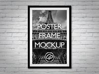 poster frame mockup hd - Poster Frame Mockup PSD
