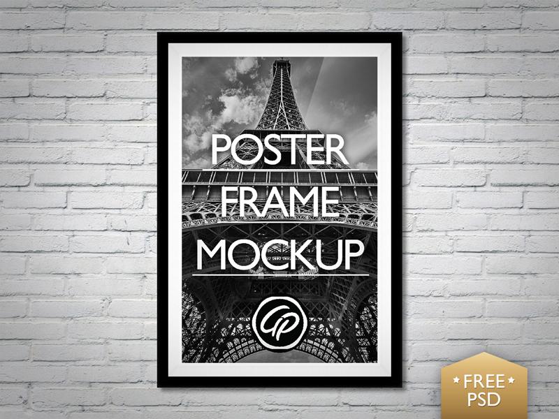 Poster Frame Mockup PSD psd poster mockup download free